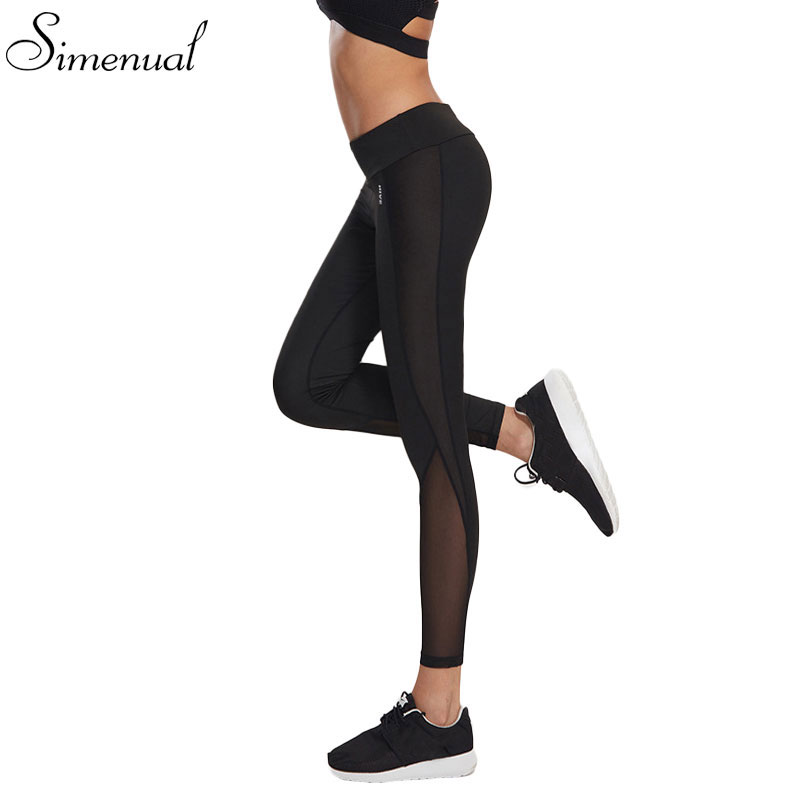 Mesh splice fitness leggings hosen weiblichen kleidung harajuku freizeitsport schlank push-up leggings...