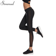 Mesh splice fitness leggings pants female clothing harajuku athleisure slim push up leggings women elastic black sexy jeggings