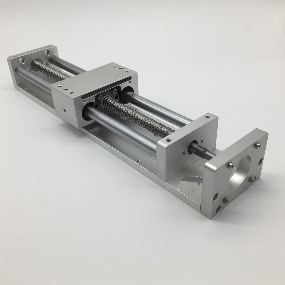 XYZ Axis Sliding Table CNC Cross Slide Linear Rail Stage SFU1605 BallScrew Bench