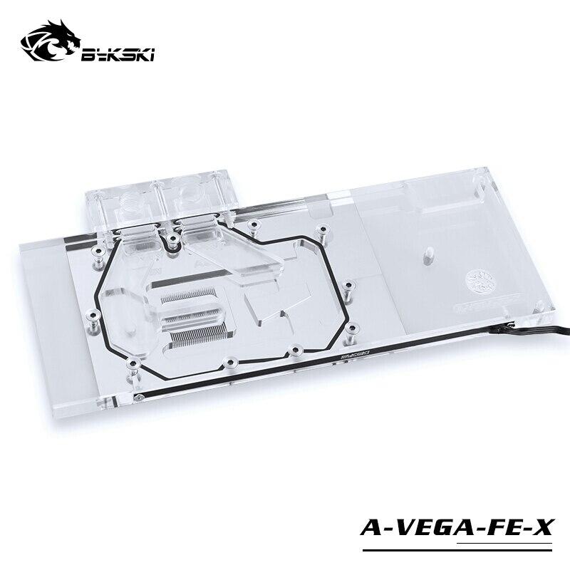 BYKSKI Bloc De L'eau utiliser pour AMD/MSI/GIGABYTE/SAPHIR/XFX Radeon RX Vega 56/64 Refrence Édition /pleine Couverture Carte Graphique Bloc