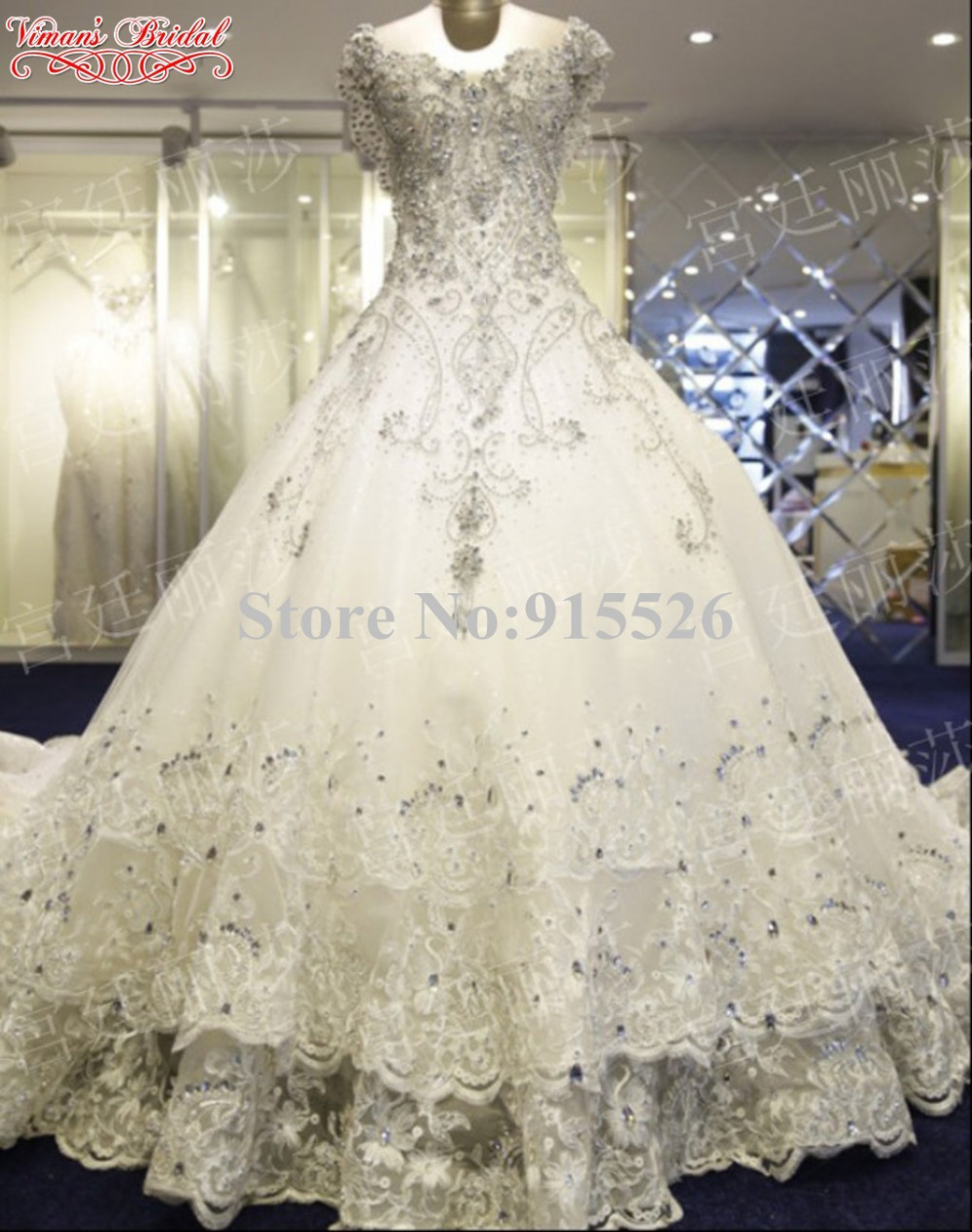 2015 new design wedding dress appliques lace beading for Crystal design wedding dresses price