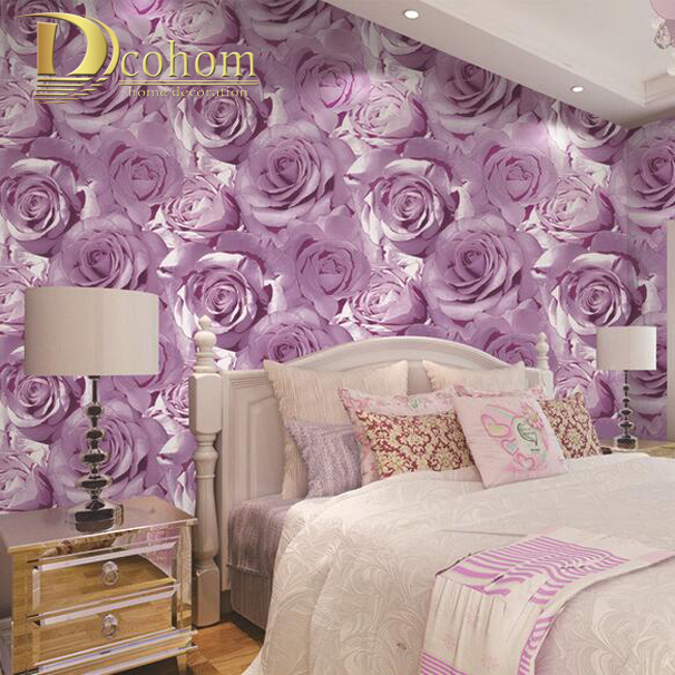 pink and purple wallpaper for a bedroom kaufen gro 223 handel blume tapete aus china 21138