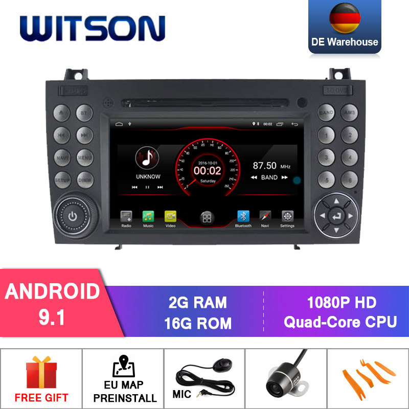 WITSON Android 9.1 car gps dvd for BENZ LK200/SLK280 SLK350/SLK car audio 2GB RAM 16GB FLASH+DAB+OBD+TPMS+DVR+Wifi/3G/4G support