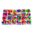 1 Caja LASPERAL Beads Niños Inteligencia Granos de Acrílico Multicolor Kit Espaciador de Los Granos Para DIY Pulsera y Collar de la Joyería de 19x13 cm