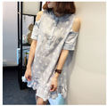 maternity dresses 2016 Korean summer fashion maternity dress pregnant women cotton summer dress big yards pregnancy clothes