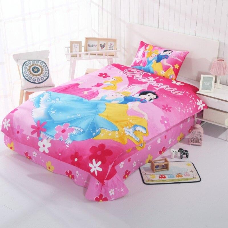 Mignon rose cendrillon princesse housse de couette ensemble pour filles 100% coton linge de lit jumeau unique couvre-lit couvre-lit taies d'oreiller