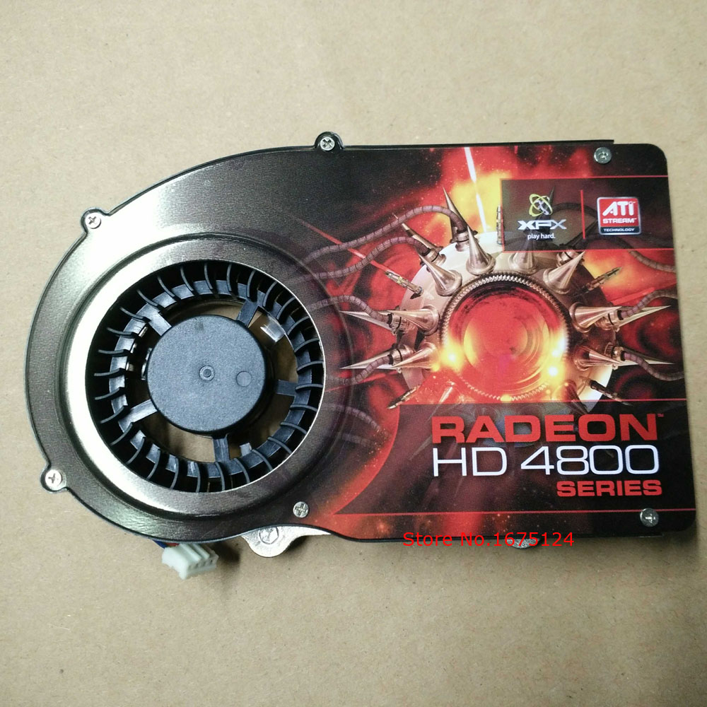 computer radiator blower VGA cooler fan with heatsink For RADEON XFX HD 4800 video Graphics Card GPU cooling original gpu veineda graphic card hd6850 2gb gddr5 256bit game video card hdmi vga dvi for ati radeon instantkill gtx650 gt730
