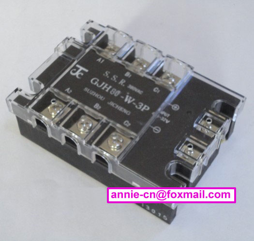 New and original GJH80-W-3P JICHENG 3-PHASE AC SOLID STATE RELAY  SSR  80A 4.5-32vDC, 380VAC high quality ac ac 80 250v 24 380v 60a 4 screw terminal 1 phase solid state relay w heatsink