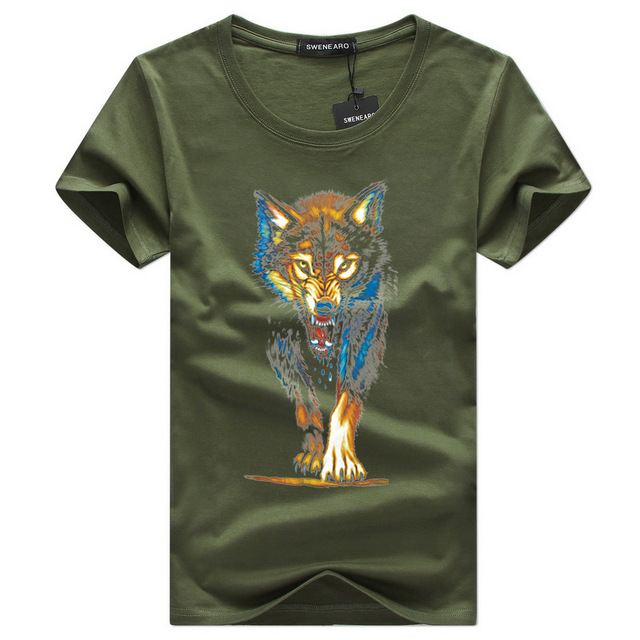 2018Hot Sale New Fashion Summer Fashion Men's T-shirt Printing 3D Men Tiger Short Sleeve Casual Men's T-shirts Plus Size Shirts