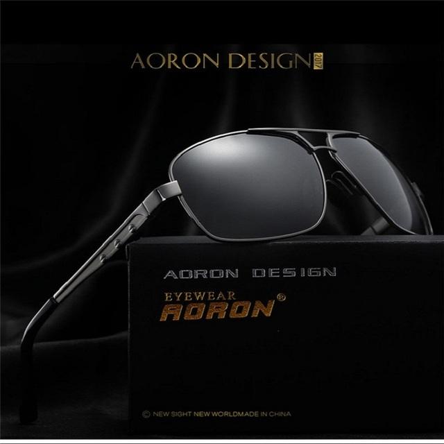 Nueva Moda gafas de Sol Polarizadas de Los Hombres de Conducción UV400 Shades gafas de sol Puntos Piloto Gafas de Sol Masculinas deportes Al Aire Libre