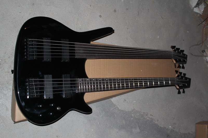 free shipping wholesale price custom double neck bass guitar 5 string and 6 string bass super. Black Bedroom Furniture Sets. Home Design Ideas