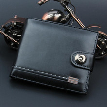 New PU Leather Men Wallets Short Coin Purse Small Vintage Wallet Hasp Zipper Money Bag Card Holder Pocket Purse Black Wallet цена