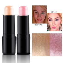 Face Makeup Highlighter Stick Shimmer Highlighting Powder Creamy Texture Silver Shimmer Light Brand Women Makeup Beauty