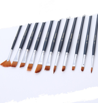 12 loaded long nylon hair blue rod oil painting pen acrylic painting watercolor brush set of.jpg 350x350