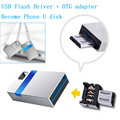High Speed Mini USB 3.0 Flash Drive 32GB 16GB Memory Stick Waterproof Metal Tiny Pen Drive USB2.0 8GB Disk U Disk + OTG adapter