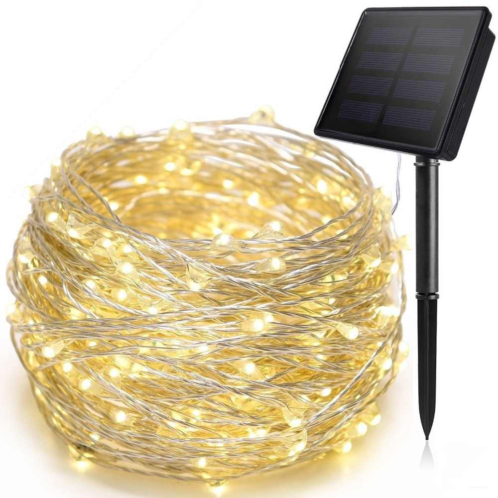 12m/22m Solar Led String Light Led Strip Copper Wire light Outdoor fairy Lights Christmas Light String for Party Wedding Garden