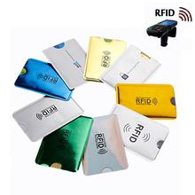 2PC anty RFID posiadacz karty kredytowej Bank dowód osobisty torba na pokrycie posiadacz Identity Protector sprawa przenośne wizytówki Cardholder tanie tanio Posiadacze kart IDENTYFIKATOROWYCH Karta kredytowa Literę Passport Cover wizytówka Case portfel na karty kredytowe Porte carte