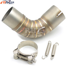 New Dirt Bike Racing Motorcycle Exhaust Pipe Middle muffler exhaust pipe For SUZUKI GSXR1000 GSX-R 1000 GSX R 1000 2006 2007