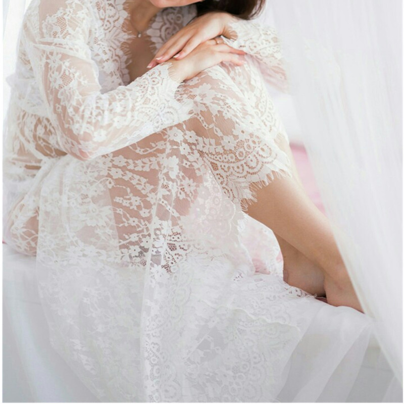 Comeondear γυναικείο νυχτικό ύπνου μακρύ διάφανο σε μεγάλα μεγέθη msow