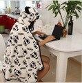 Anime Panda Ladies Warm Blanket Hooded Pashmina Cape Cute  Women Cosplay Wrap Shawl Costumes