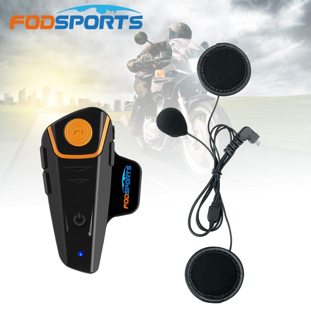 2018 Fodsports BT-S2 Pro Motorcycle Helmet Intercom Waterproof Bluetooth Headset Motorbike BT Interphone With FM+Soft Earphone