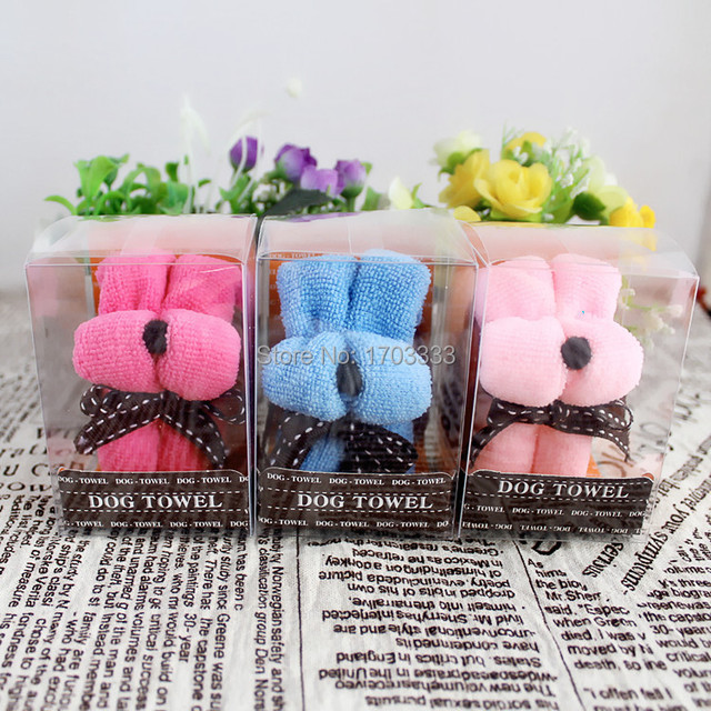 Wholesale Wedding Supplies Product Size 20 20CM Festivals Small Dog Puppy Towel Gift Ideas
