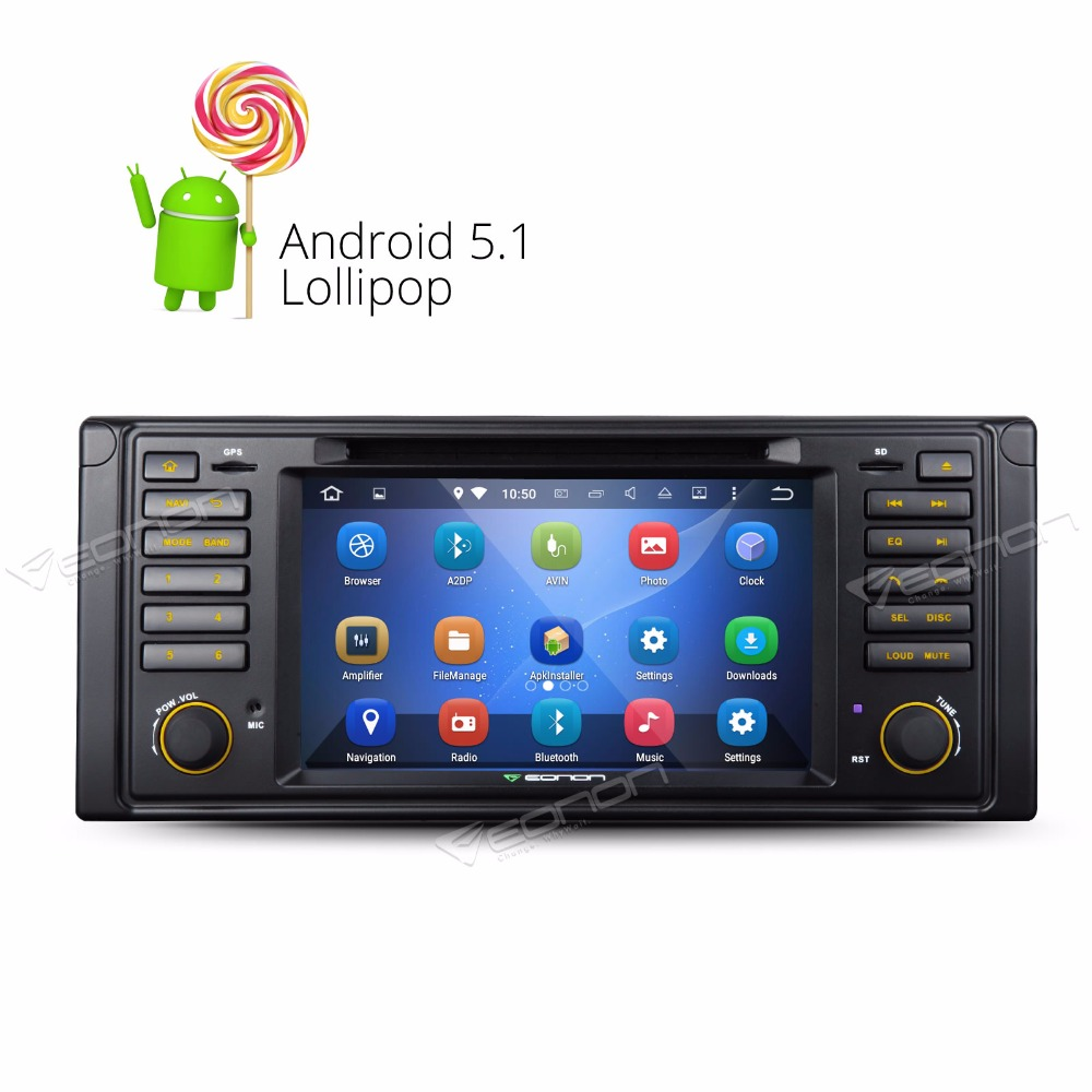 Android 5 1 1 lollipop 7 multimedia car dvd gps with mutual control for bmw e39 1996 2003