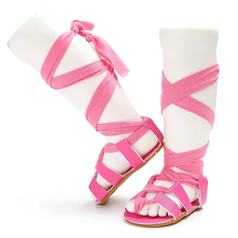 Mới đến 8 màu sắc Mùa Hè khởi động thời trang Roman cô gái trẻ em giày đấu sĩ toddler bé cô gái dép PU dép da bé