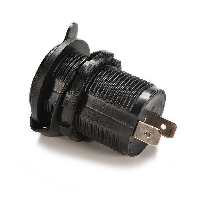 12V Car Socket USB Accessory Waterproof   Power Socket Plug Outlet Black USB Gadgets