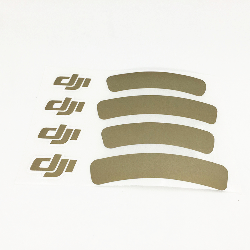 1PC For DJI Golden Decal Stickers For DJI Phantom 3 Universal Housing Decorate Identifying Sticker For Phantom 1/2/3 Accessories