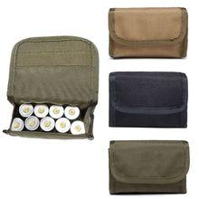 ร้อนการล่าสัตว์ Foldable กระสุนกระเป๋าผู้ถือกระสุนปืนไรเฟิล Carrier 12 รอบ EDC ยุทธวิธี Molle กระเป๋า Shell