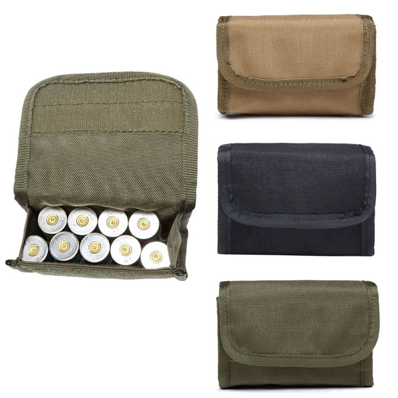 HOT Hunting Foldable Ammo Carrier Bag Bullet Holder Rifle Cartridge Carrier 12 Round EDC Tactical Molle Shell Pouch-in Pouches from Sports & Entertainment
