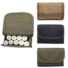 HOT Hunting Foldable Ammo Carrier Bag Bullet Holder Rifle Cartridge Carrier 12 Round EDC Tactical Molle Shell Pouch