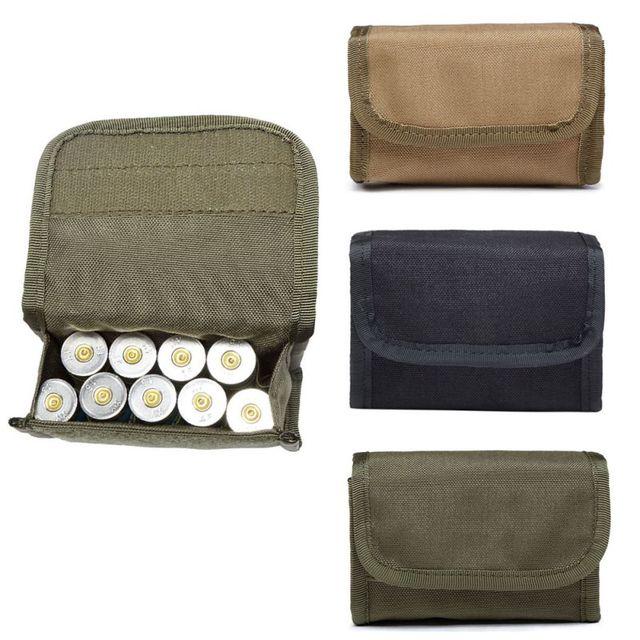 Sac de transport de munitions pliable de chasse chaude porte balle porte cartouche de fusil 12 poche ronde de coquille Molle tactique EDC
