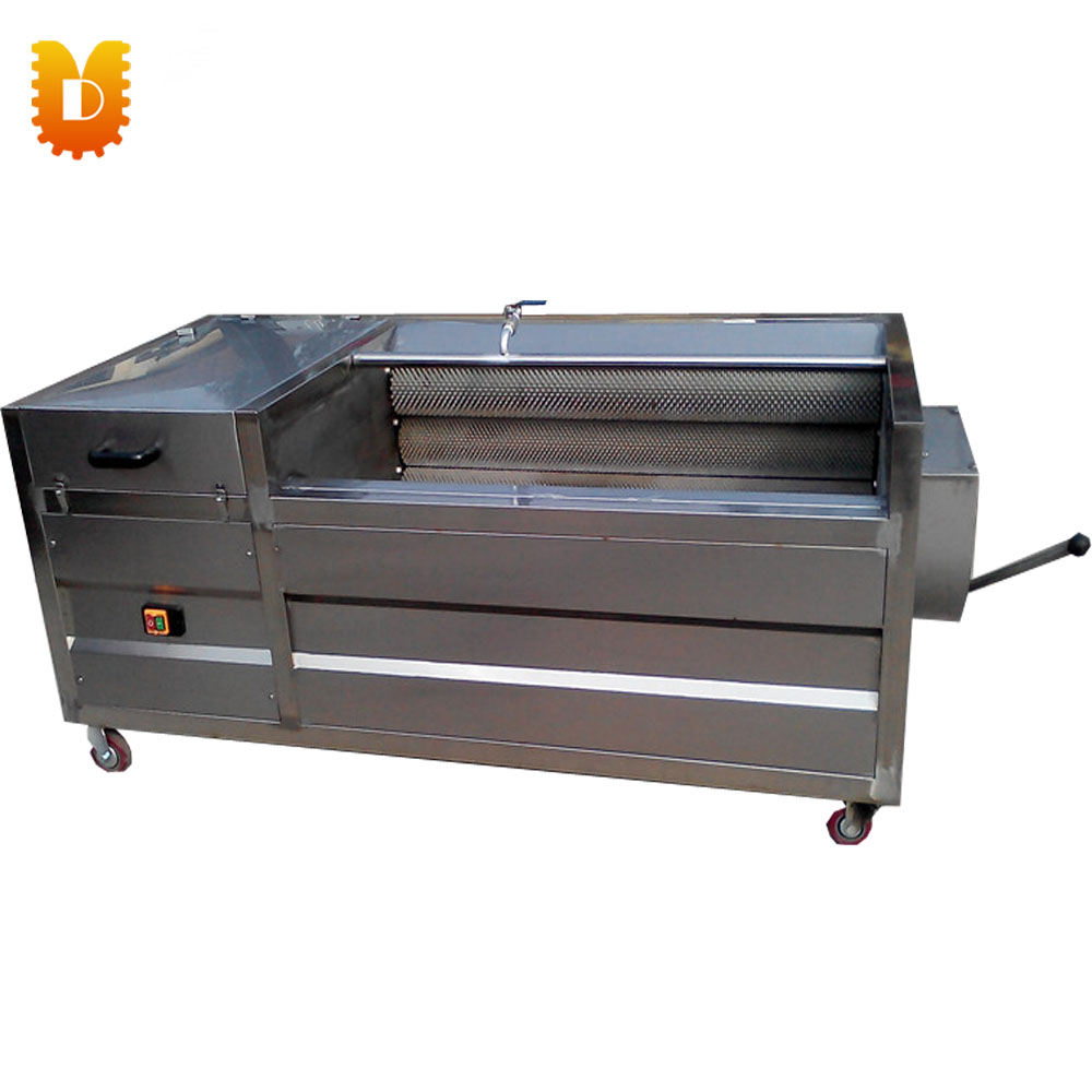 UDCY-800 seafood  brush roll  type washing / cleaning & peeling machine rick stein s seafood lovers guide