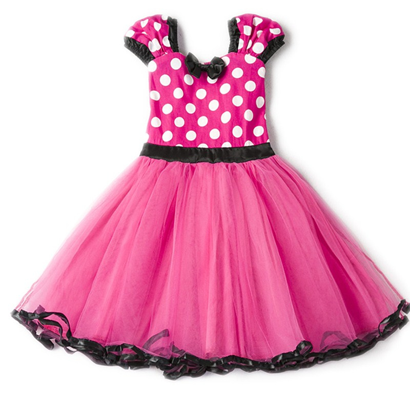 HTB1di3HugKTBuNkSne1q6yJoXXae Fancy Kids Dresses for Girls Birthday Easter Cosplay Minnie Mouse Dress Up Kid Costume Baby Girls Clothing For Kids 2 6T Wear