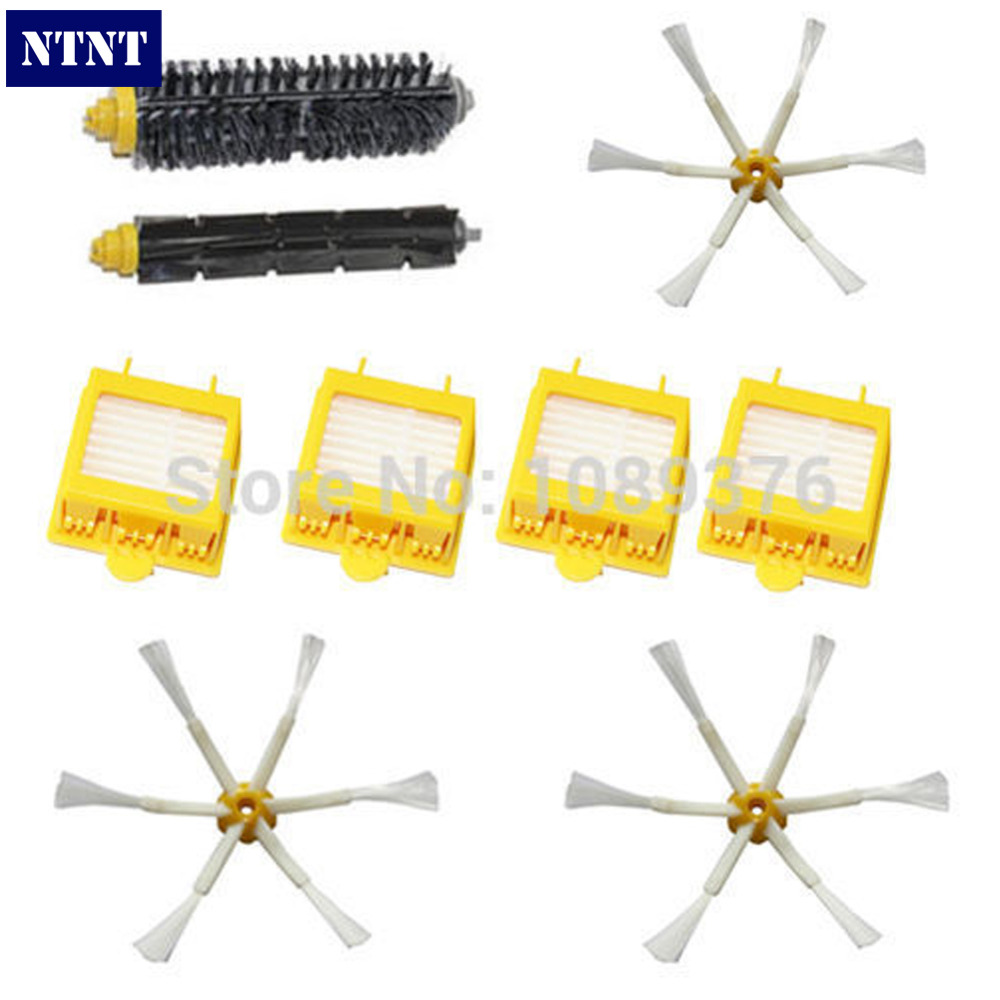 NTNT Free Post shipping New Brush + 4x Filter 6 armed Side Kit for iRobot Roomba 700 Series 760 770 780 ntnt side brush 3 armed hepa filter clean replacement tool kit fit for irobot roomba 700 series 760 770 780 790