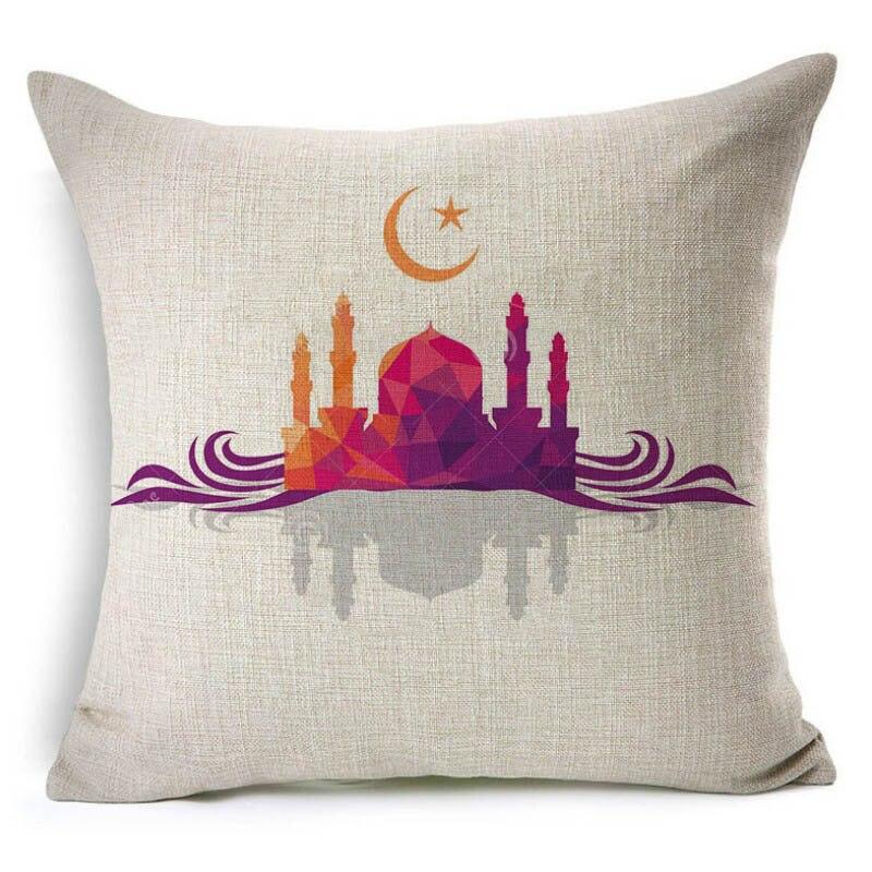 2019 45x45cm Muslim Pillow Case Cover Sofa Waist Cushion Cover Festival Ramadan Kareem Modern Islam Culture Simple Pattern NCD