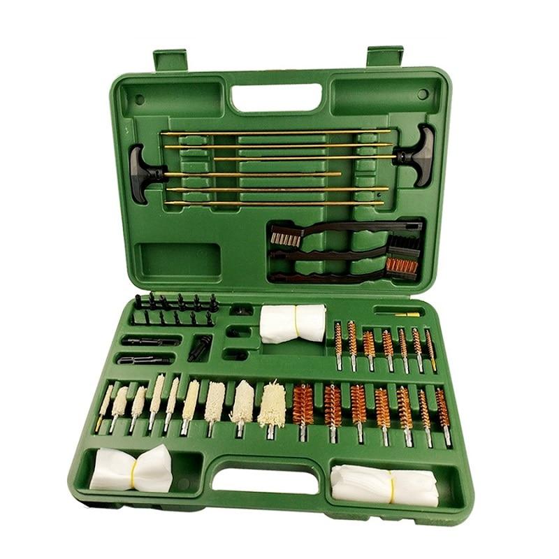 62 pièce/ensemble Kit de nettoyage de pistolet universel de chasse tactique fournitures pour pistolet à Air comprimé pistolet tir baril outils de nettoyage