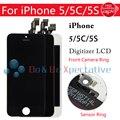 Для iPhone 5S 5C 5 ЖК-Дисплей С Сенсорным Экраном Дигитайзер Ассамблеи LCD Touch Пены Пены Фронтальная Камера Кольцо Датчик Рамка Нет Мертвых Pixel