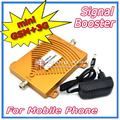 Do! Gsm 900 MHz 3 G W-CDMA 2100 MHz telefone celular amplificador de sinal de banda dupla, Mini 2 G 3 G GSM repetidor de sinal + adaptador