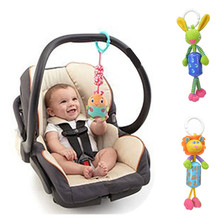 Baby Fence Pink Multifunctional bed Car Hanging BB Device /Ring paper /Teeth Glue Baby Rattles 20%Off