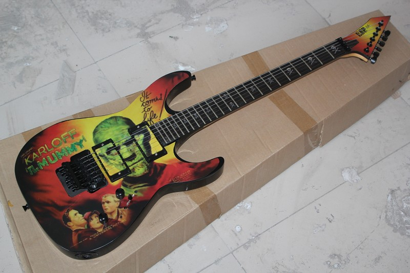 Free Shipping Factory custom Top Quality SALE Kirk Hammett Metallic E S P KH2 M-II Mummy Karloff Tlmummy Electric Guitar 914