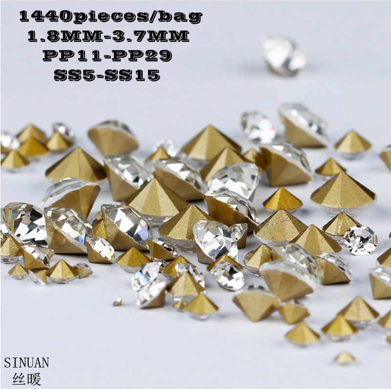 Chaton For Crafts Pointback Crystal Glass Loose Rhinestones Round Rivoli  Glass Shiny Stones Rhinestone Beads Diy 0f1bcda494e5