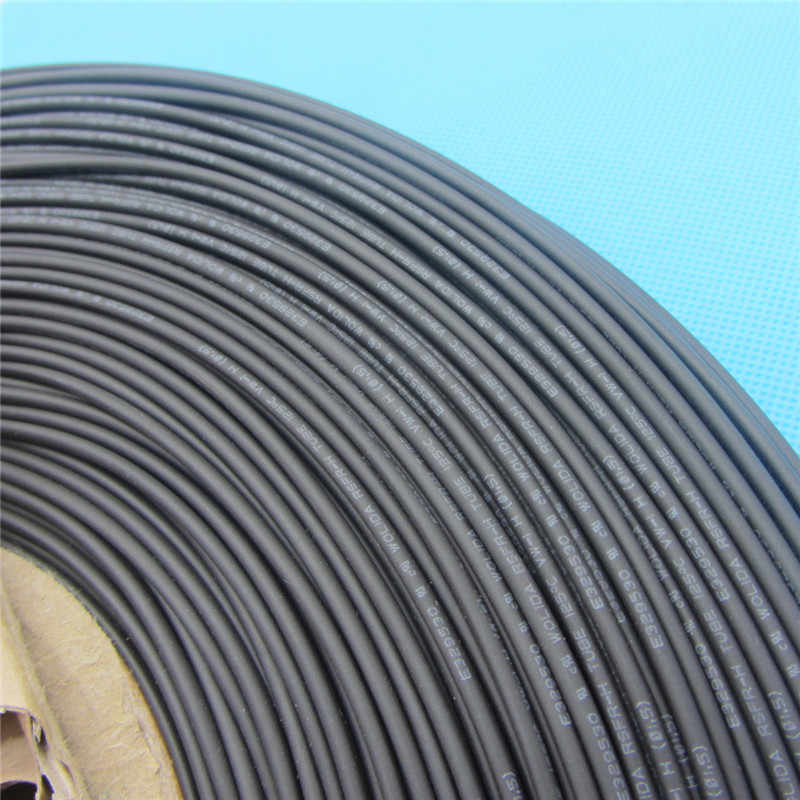 1m Heat Shrink Insulation Sleeving Heatshrink Tubing 125 Celsius Black Tube Wire Wrap Cable Kit Inner Diameter 1mm 1.0mm