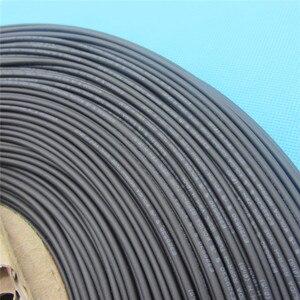 1 m rurka termokurczliwa z koszulką 125 stopni celsjusza czarna rura osłonowa z przewodem średnica wewnętrzna 1mm 1.0mm