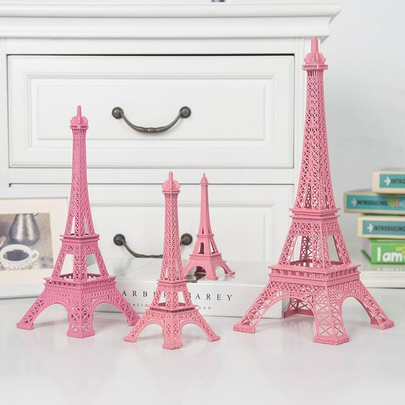 3D Metal 48cm French Paris Eiffel Tower Statue Model Bookshelf Office Decor