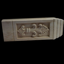 Woodcarving Corbels Decal Column Wood Furniture Decorative Mouldings Cabinet Door Figurine Crafts Home Decoration