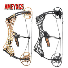 1set Archery 26inch Compound Bow 40-70lbs Adjustable Pulley Bow Hunting Fishing Bow 350FPS Arrow Speed For Shooting Competition archery compound bow fully adjustable 40 70lbs 45 75lbs 55 85lbs dual cam compound bow ibo 350fps outdoor shooting accessories