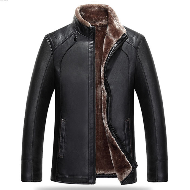 Simple Fashion England Vintage Mens Faux Fur Leather Suede Coats For Winter High Quality Male's Canadian Jacket Cheap Price C260